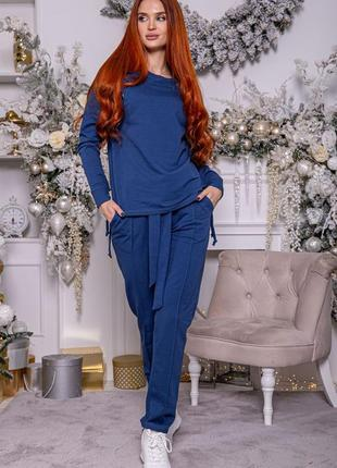 Повседневный костюм синий, коралловый,бордовый