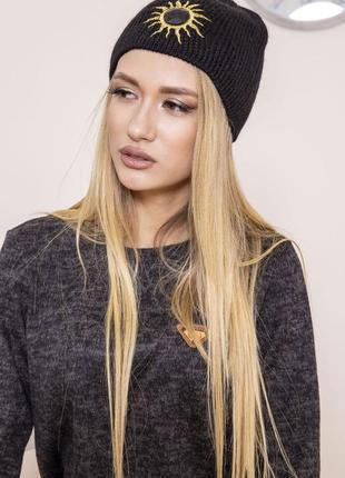 Прикольная женская шапка