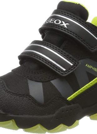 Ботинки термики высокие с мигалками geox j buller boy c abx