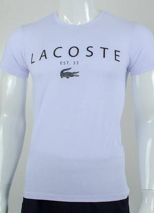 Футболка мужская, принт Lacoste, цвет белый