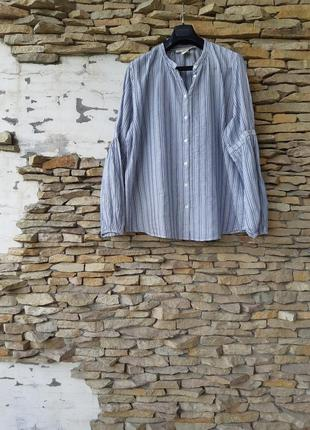 Котоновая с красивыми рукавами рубашка 👕 большого размера