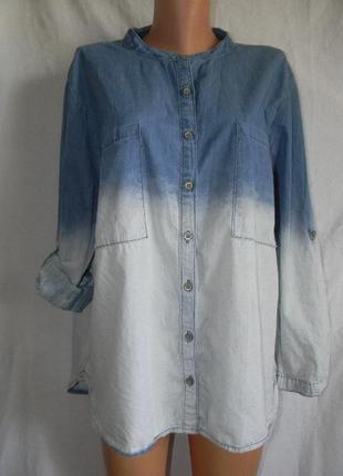 Джинсовая рубашка большого размера kaleidoscope