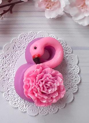 Мыло 8 марта фламинго