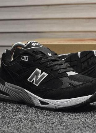 Мужские кроссовки new balance 991 black, чёрные осенние, весен...