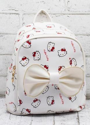 "Детский рюкзак ""hello kitty"" белый"