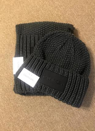 Набор шарф+шапка calvin klein