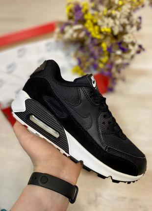 Кроссовки nike air max 90 black #art101