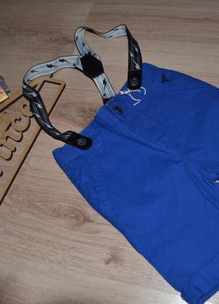 Новые шорты мальчику коттон с подтяжками 2-3г debenhams