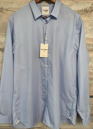 Красивая приталенная мужская рубашка