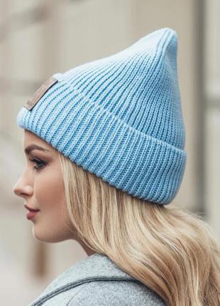 Стильная шапка колпак,осень-зима