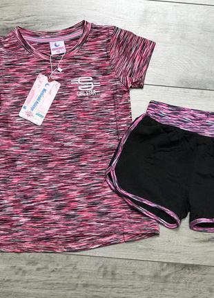 Спортивный комплект,футболка и шорты 110\116 см