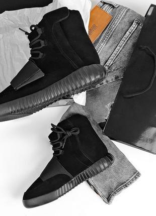 Мужские 💎зимние💎крутые кроссовки адидас, adidas yeezy 750 blac...
