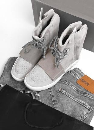 💎зимние💎мужские кроссовки адидас adidas yeezy 750 grey, евро з...