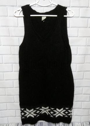 Очень теплое, вязаное шерстяное платье fos fashion