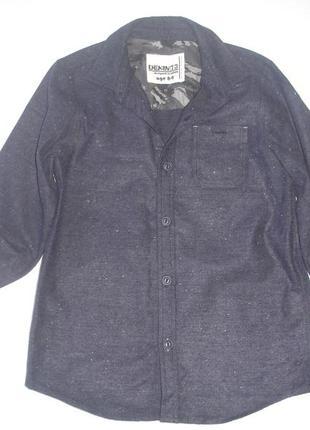 Фирменная matalan теплая фланелевая рубашка мальчику 8-9 лет в...