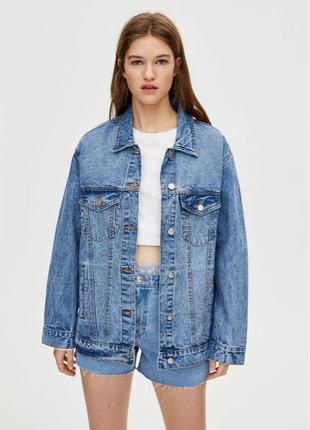 Женская джинсовка джинсовая куртка pull&bear