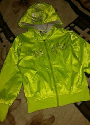Курточка ветровка на девочку 7-8 лет  ,  куртка