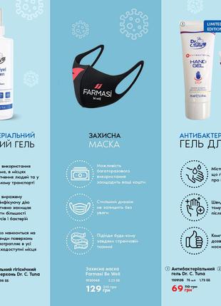 Антибактериальный гель Farmasi Antibacterial Hand Gel