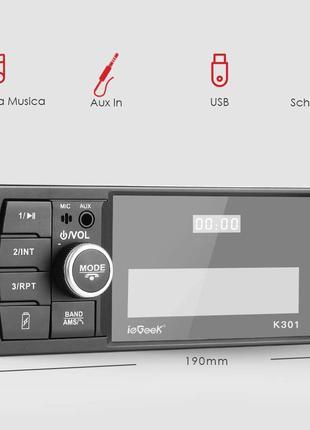 Автомагнітола iGeek K301 Autoradio Bluetooth 60Wx4 USB MicroSD