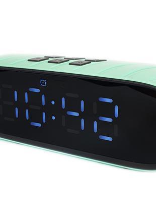 Портативная Bluetooth стерео колонка часы будильник WSA-858 c USB