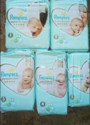 Подгузники Pampers premium care по низкой цене!!