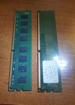 Оперативная память 2 планки по 2 ГБ Samsung DDR3-1333 2048MB