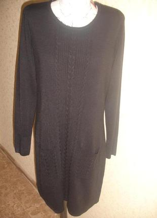 Фирменное f&f теплое платье на 50-52 размер супер качество
