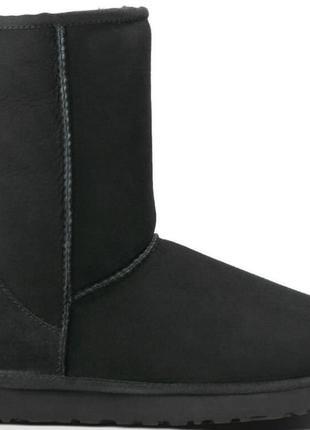 Мужские черные замшевые угги / UGG Classic Short Boot Black