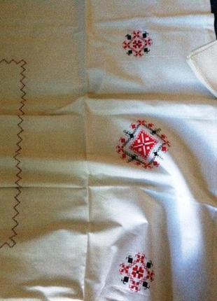 Комплект: скатерть с вышивкой, 4 салфетки, СССР, Винничанка