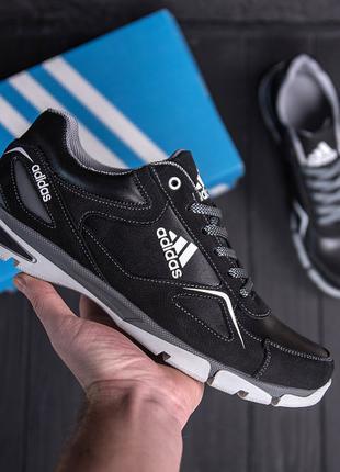Мужские кожаные кроссовки Adidas Tech Flex