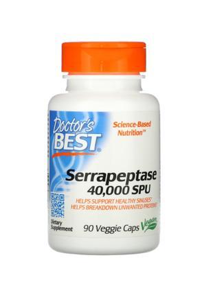 Doctor's Best, Серрапептаза, 40 000 SPU, 90 капсул