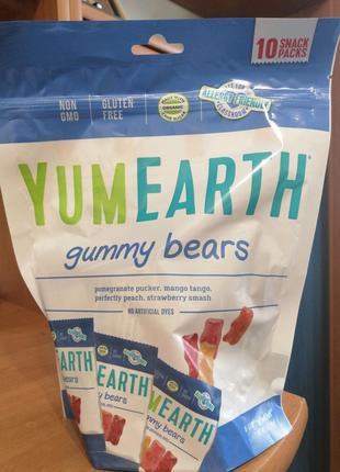 YumEarth, Жевательные мишки, Ассорти вкусов, 10 пакетов со снекам