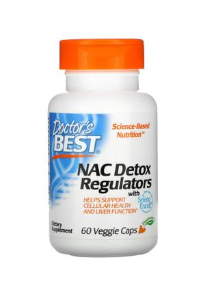 NAC регуляторы детоксикации, Doctor's Best, 60 капсул