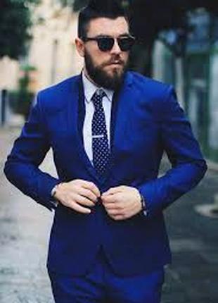 Пиджак мужской синий классический