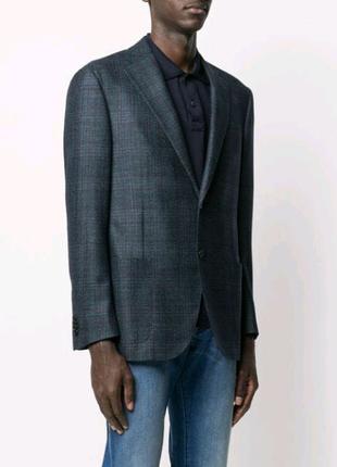 Пиджак мужской классический серый в клетку
