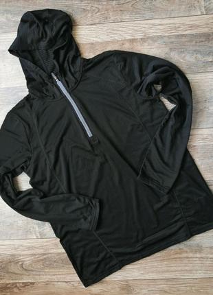 Термокофта чоловіча утеплена з капюшоном Crivit чорна XL