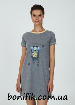 Ночная женская сорочка с рисунком Koala Space арт. LDK 107/00/01