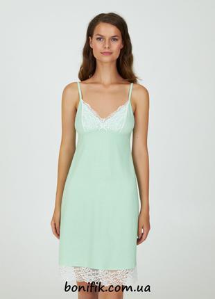 Женская ночная сорочка с белым кружевом (арт LDK 118/03/01)