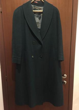 Кашемировое пальто большого размера