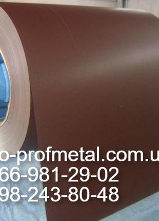 Лист гладкий с полимерным покрытием RAL 8017, Гладкий лист 8017.