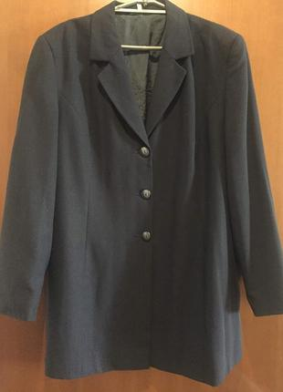 Пиджаки темно синого цвета большого размера