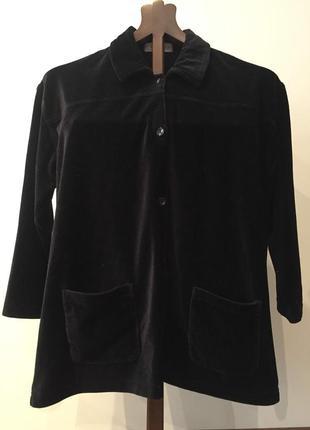 Черная велюровая вельветовая рубашка большого размера