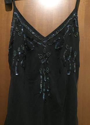 Длинное вечернее платье разшитое бисером