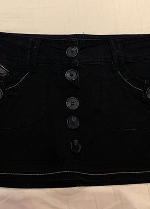 #розвантажуюсь черная короткая юбка-шорты