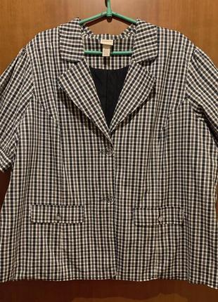 Клетчатый пиджак рубашка большого размера