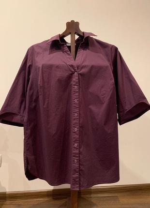 Фиолетовая рубашка большого размера