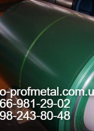 Лист гладкий с полимерным покрытием RAL 6005 зеленого цвета.