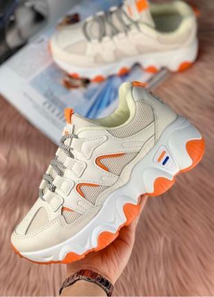 Женские кроссовки фила оранжевые