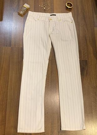 #розвантажуюсь белые в полоску брюки фирмы roberto cavalli