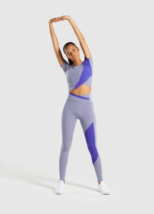 Оригинал спортивные лосины и футболка asymmetric gymshark eur s